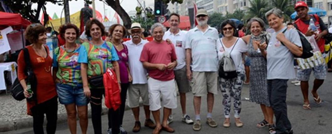 SinMed participa do ato pelas diretas já em Copacabana