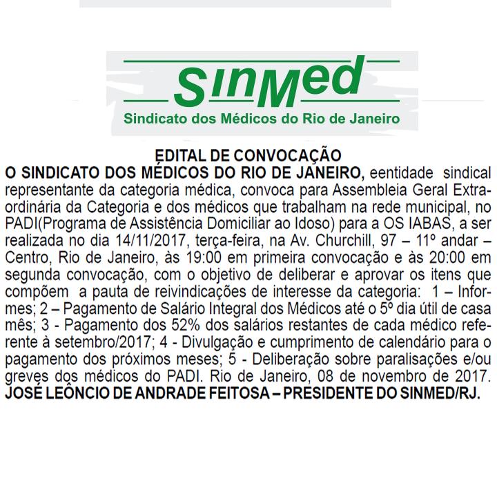 EDITAL DE CONVOCAÇÃO 14-11-17
