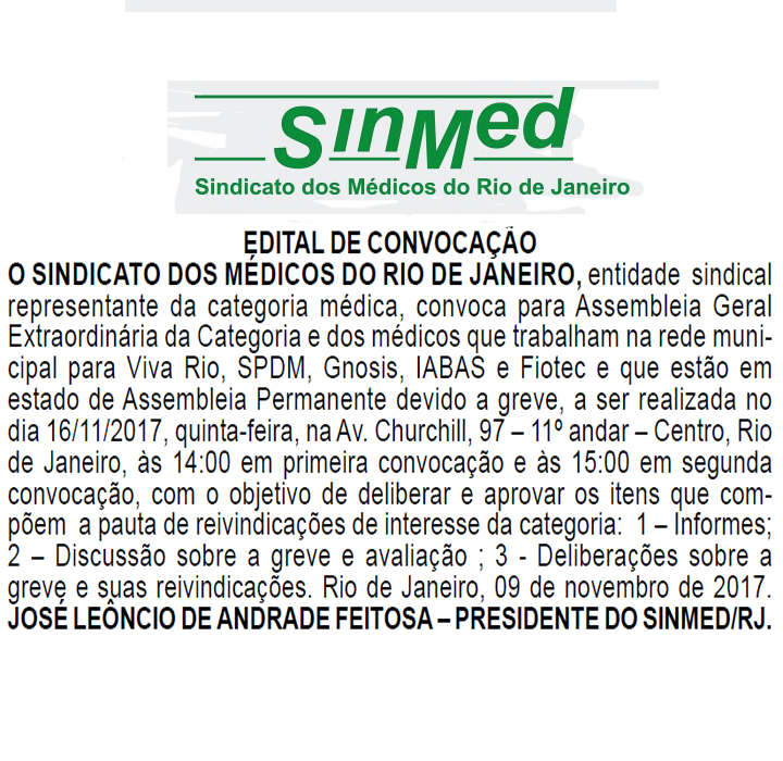 EDITAL DE CONVOCAÇÃO 16-11-17