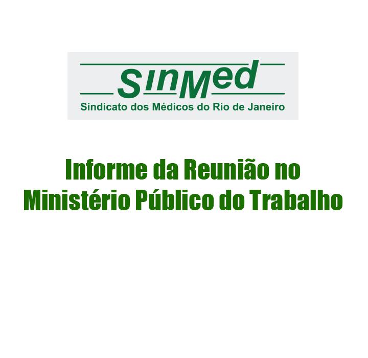 INFORME DA REUNIÃO DE CONCILIAÇÃO DO MINISTÉRIO PÚBLICO DO TRABALHO EM 14/11/2017