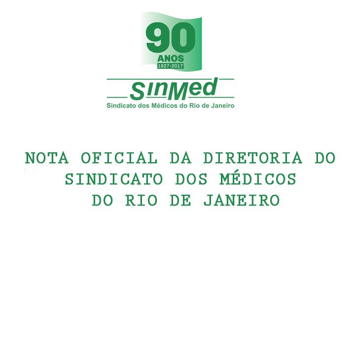 NOTA OFICIAL DO SINDICATO DOS MÉDICOS DO RIO DE JANEIRO⠀⠀⠀⠀⠀⠀⠀⠀⠀⠀⠀⠀⠀⠀⠀⠀⠀⠀⠀⠀⠀⠀⠀⠀⠀⠀⠀⠀⠀⠀⠀⠀⠀⠀⠀⠀⠀⠀⠀⠀