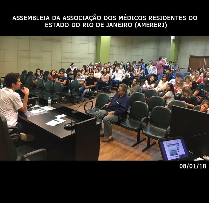 Assembleia da Associação dos Médicos Residentes do Estado do Rio de Janeiro (AMERERJ) – 08/01/18⠀⠀⠀⠀⠀⠀⠀⠀⠀⠀⠀⠀⠀⠀⠀⠀⠀⠀⠀⠀⠀⠀⠀⠀⠀⠀⠀⠀⠀⠀⠀⠀⠀⠀⠀⠀⠀⠀⠀⠀⠀