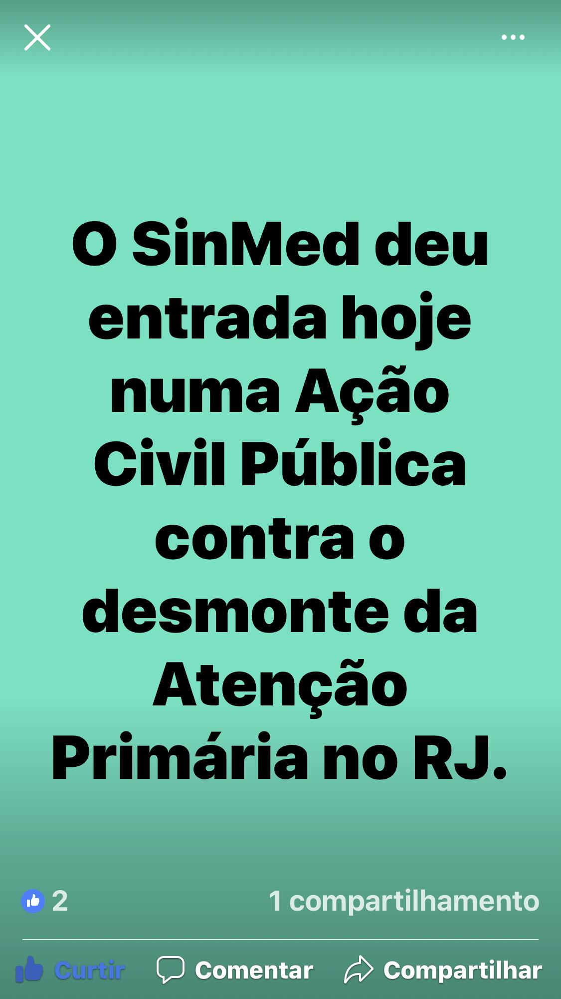 AÇÃO CIVIL CONTRA DEMONTE ATENÇÃO PRIMÁRIA