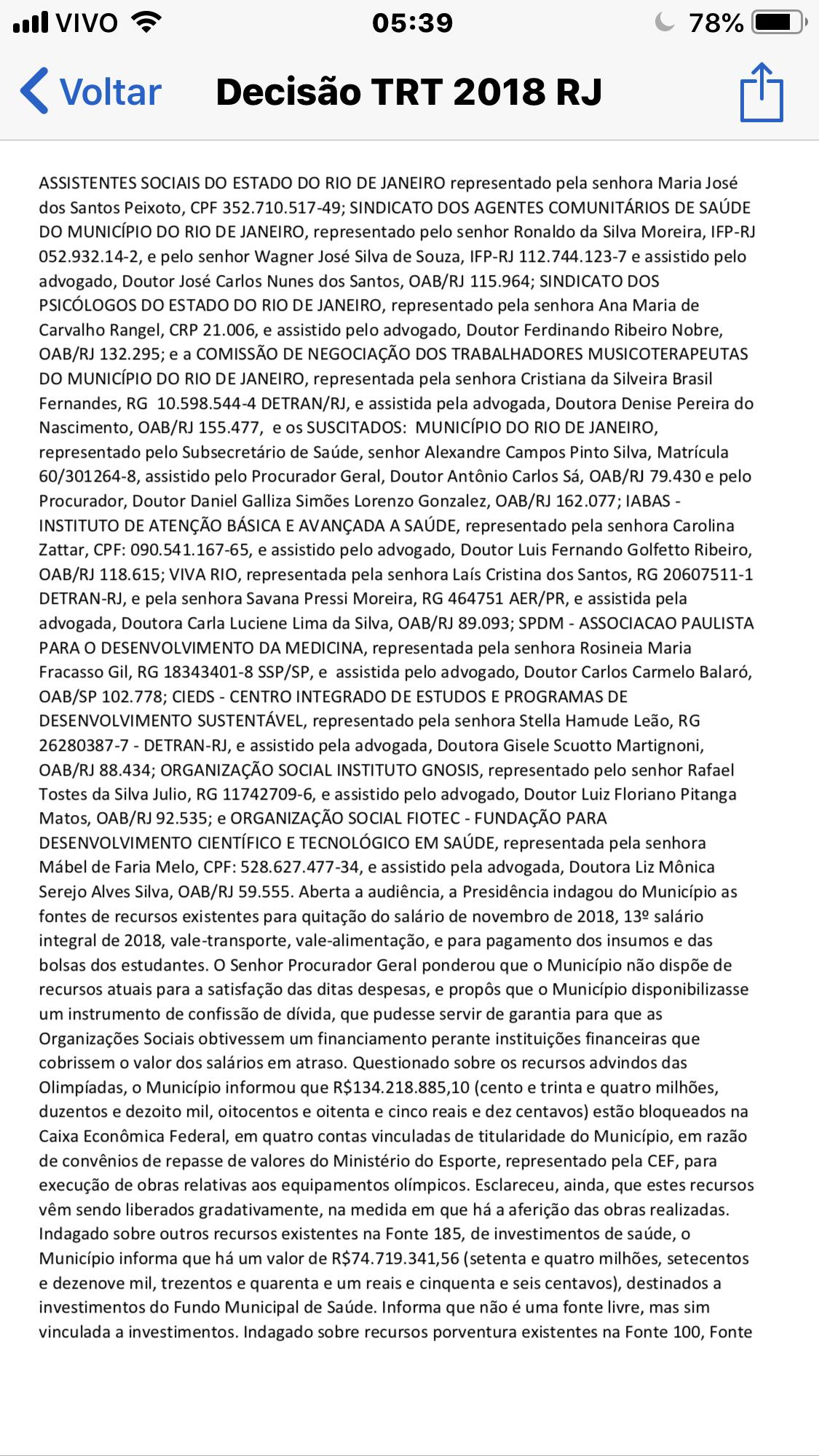 Mais uma vitória do movimento: pagamento dos servidores municipais é determinado pelo TRT
