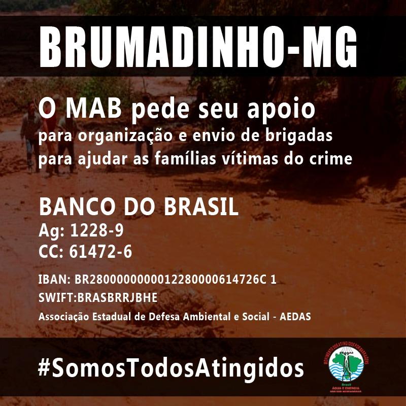SinMed /RJ solidário às vítimas e à população de Brumadinho