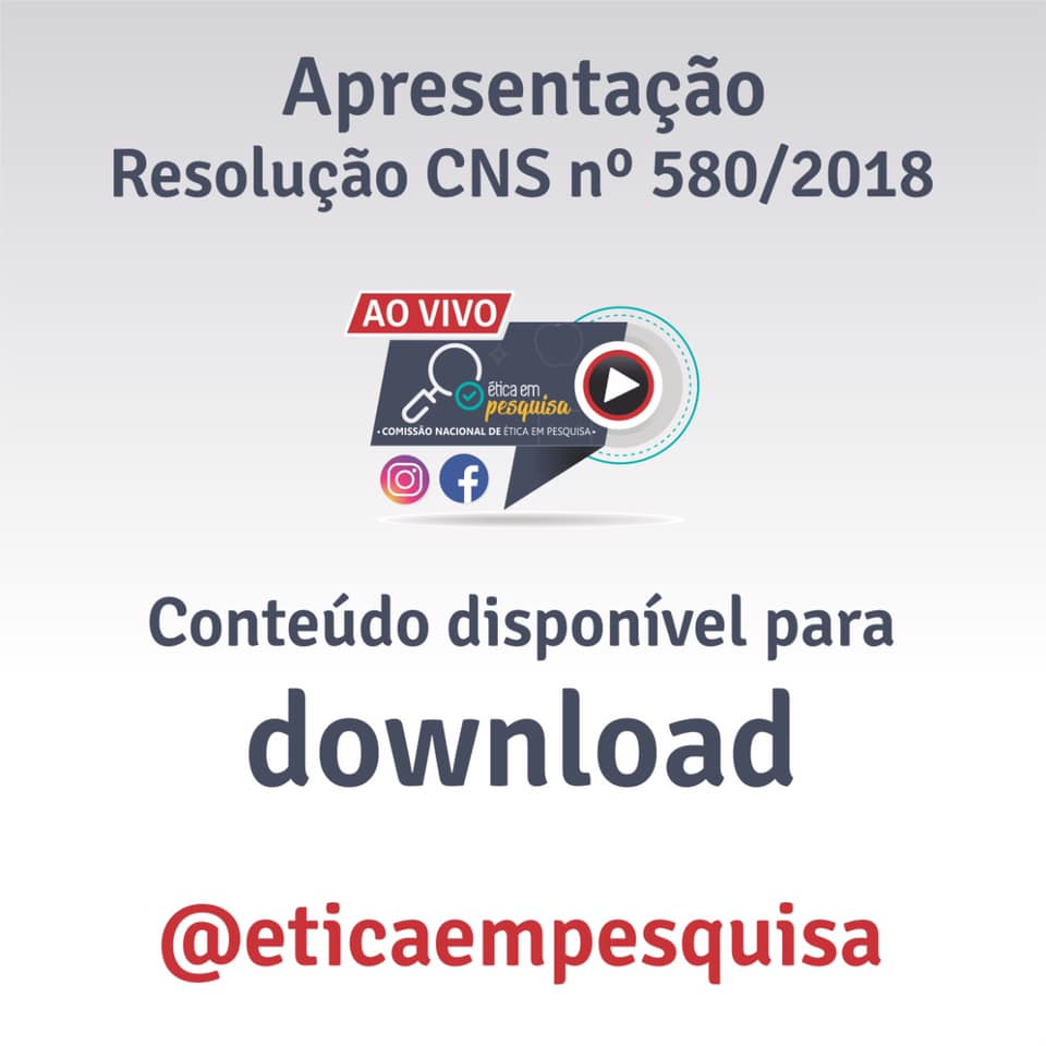 Resolução CNS nº 580/2018