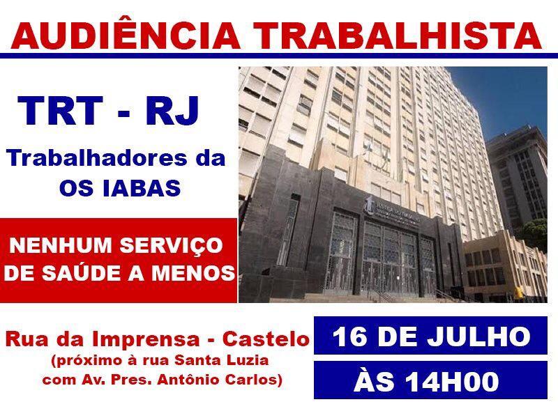 VITÓRIA DOS TRABALHADORES DA SAÚDE NA JUSTIÇA ASSEGURA VERBAS RESCISÓRIAS AP's 5.2 e 5.1