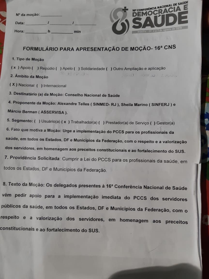 SINMED/RJ LUTA PELO PCCS NO ESTADO E NO MUNICÍPIO