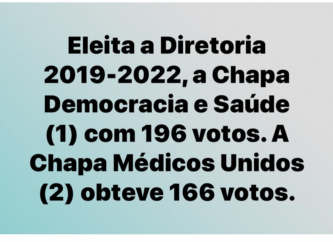 Terminaram as eleições para nova diretoria