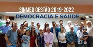 NO DIA DO MÉDICO, POSSE DA NOVA DIRETORIA DO SINMED, 2019-2022, CHAPA DEMOCRACIA E SAÚDE